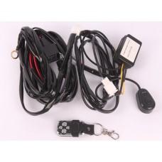 Комплект проводов подключения светодиодных фар с радиопультом 12V
