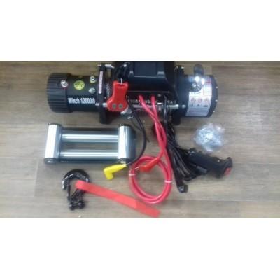 Лебедка автомобильная Electric Winch 12v 12000LBS. СТЕПЕНЬ ЗАЩИТЫ IP 68 (Увеличенная защита двигателя)
