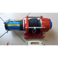 Лебедка ATV Electric Winch 12v, 4500 LBS. (синтетический трос)