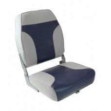 Кресло складное мягкое с высокой спинкой, белое 1040661