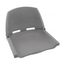 Кресло пластиковое серое для лодок ПВХ, катеров