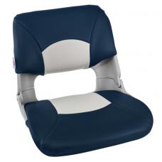 Кресло складное мягкое SKIPPER, цвет синий/белый 1061016