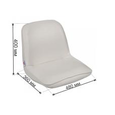 Кресло FIRST MATE мягкое, материал белый винил 1001006С