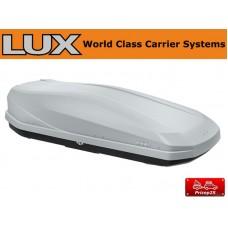 Двусторонний автобокс LUX IRBIS 175 серый матовый 450л размеры 175х85х40см