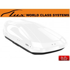 Двусторонний автобокс LUX IRBIS 175 белый глянец 450л размеры 175х85х40см