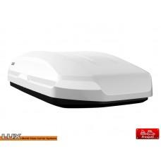 Двусторонний автобокс LUX TAVR 175 белый матовый 450л размеры 175х85х40см