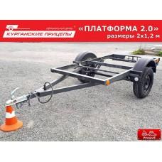 """Прицеп """"Уралец"""" (8213 03) 2х1,2 метра ПЛАТФОРМА"""